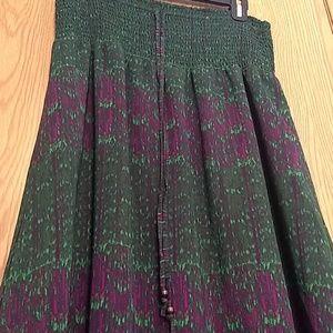 Calvin Klein green&magenta skirt